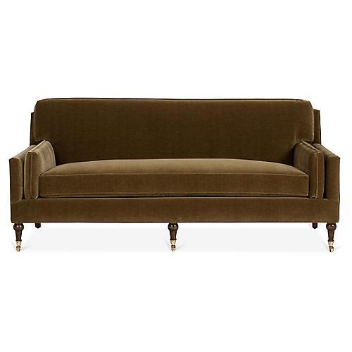 Beckett Sofa, Mink Velvet