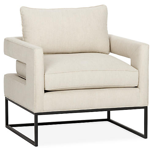 Bevin Chair, Dune Linen