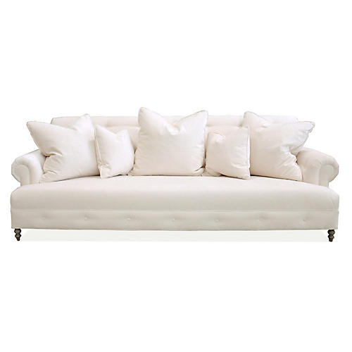 "Mrs. Smith 94.5"" Chenille Sofa"