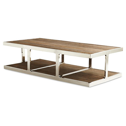 Barnes Coffee Table, Cerused Natural