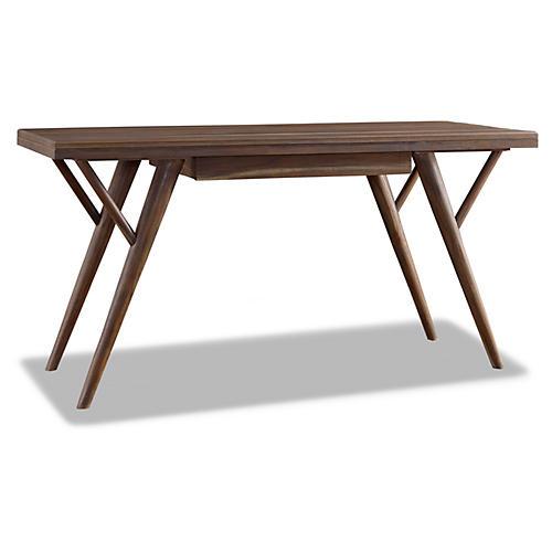 """Kiera 60"""" Desk, Sepia"""