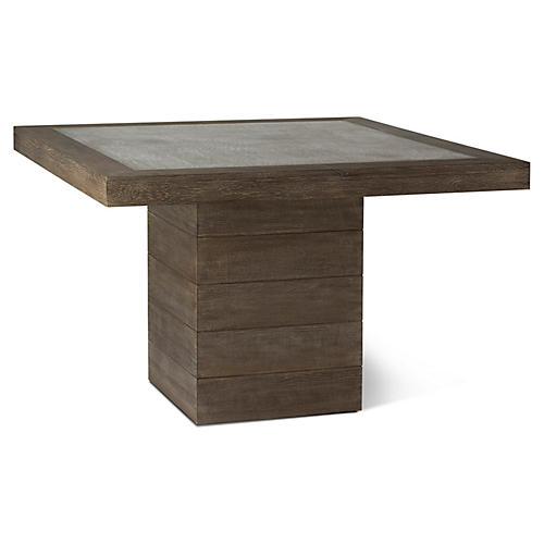 "Eaton 47"" Square Dining Table, Driftwood"