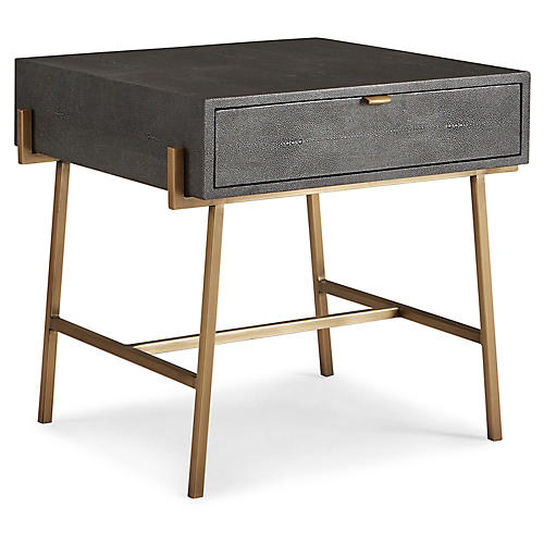Viceroy Nightstand, Gunmetal