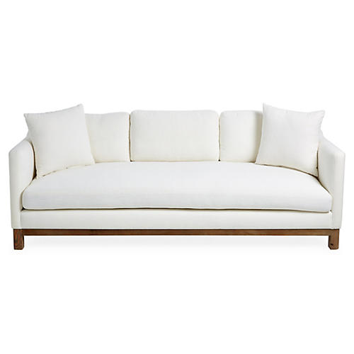 "Cara 90"" Sofa, Ivory Linen"