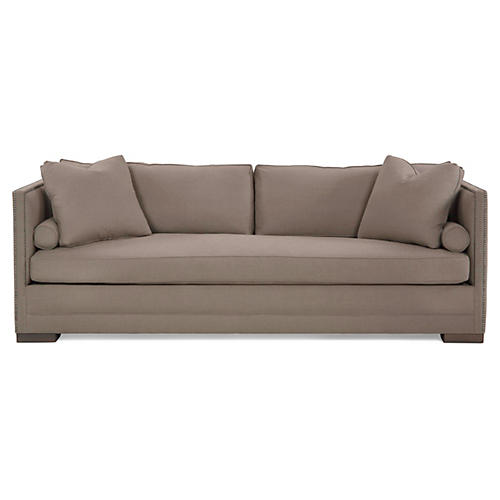 Oliver Tailored Sofa, Oatmeal Linen