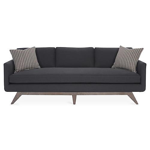 "Ames 94"" Sofa, Charcoal"