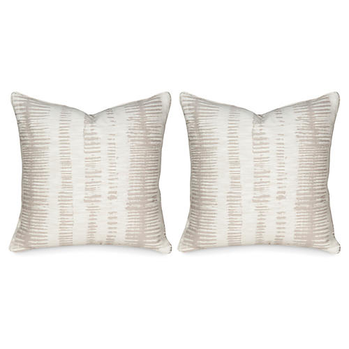 S/2 Viveca 20x20 Pillows, Ivory