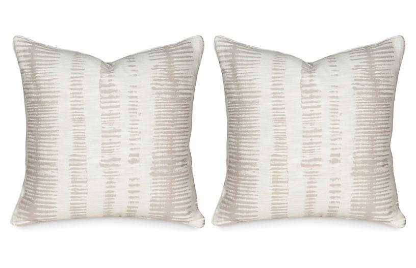S/2 Viveca 20x20 Pillows, Ivory