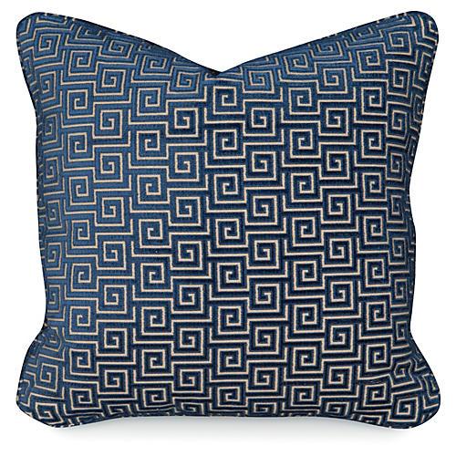 Miander Velvet 20x20 Pillow, Lapis