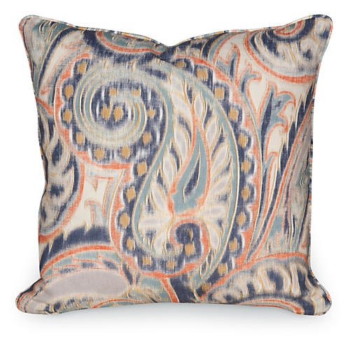 Boston Manor 19.5x19.5 Pillow, Indigo