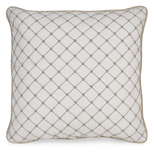 Elaine 19.5x19.5 Pillow, Ivory