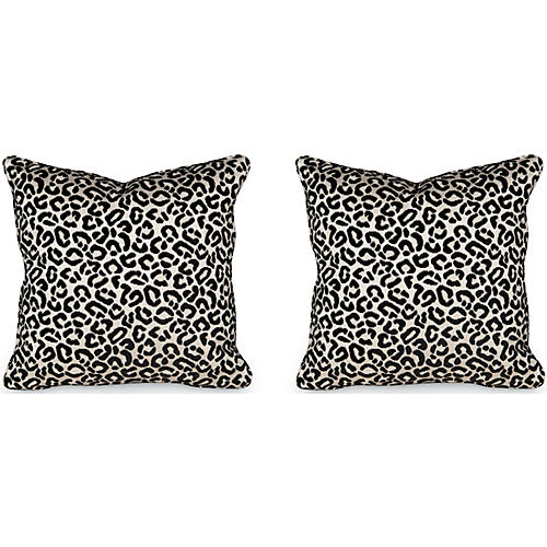 S/2 Cheetah Velvet 19.5x19.5 Pillows