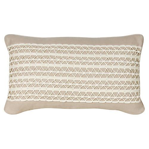 Glynn 12x20 Pillow, Beige Linen