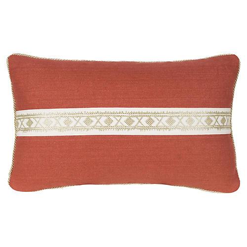 Glynn 12x20 Pillow, Salmon/Gold