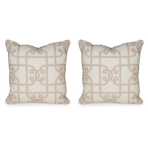 S/2 C. Gate 19.5x19.5 Pillows, Linen