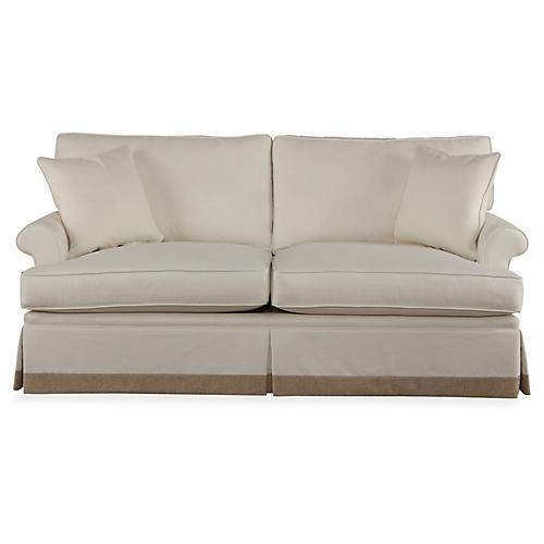 "Montrose 78"" Sofa, Ivory"