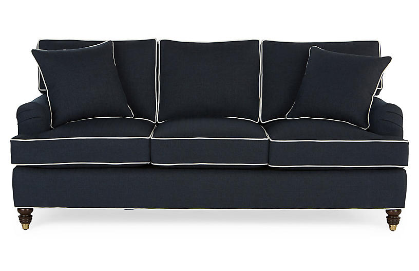 Groovy Kate Sleeper Sofa Navy Crypton Home Interior And Landscaping Dextoversignezvosmurscom