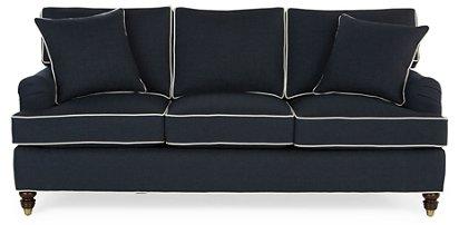 Kate Sleeper Sofa Navy Crypton