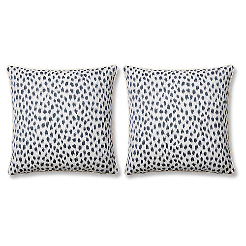 S/2 Agra 20x20 Pillows, Indigo Sunbrella