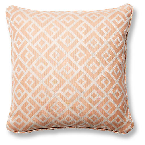 Chipper 18x18 Pillow, Blush Sunbrella