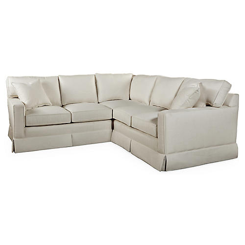 Milburn Sectional, Oatmeal Crypton