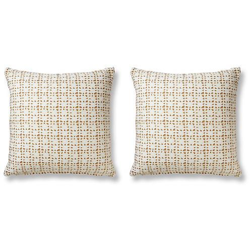 S/2 Suma 20x20 Pillows, Natural