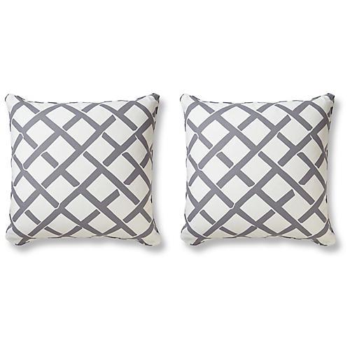 S/2 Kent 20x20 Pillows, Gray