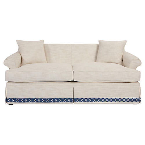 Montrose Sofa, Ivory Crypton
