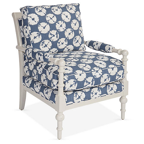 Lily Accent Chair, Slate Blue