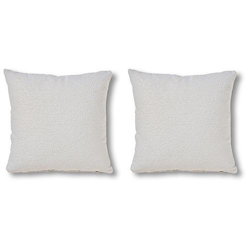 S/2 Calabra 20x20 Pillows, Pearl