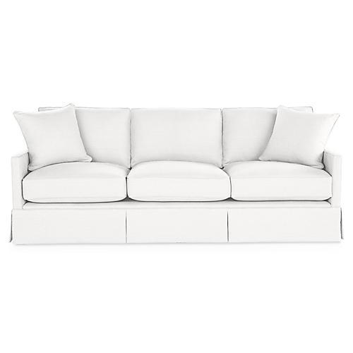 Auburn Sofa, White Linen