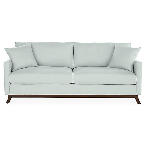 Edwards Sofa, Seafoam Linen