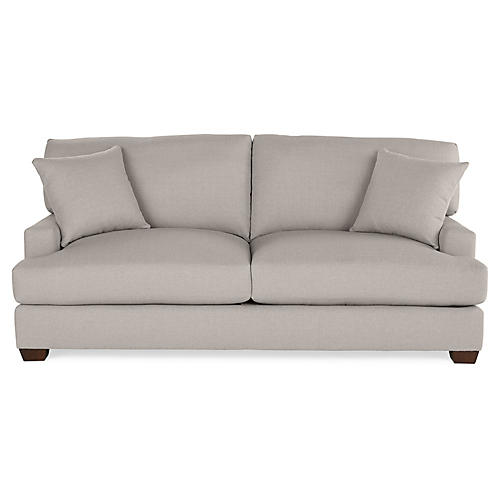 Logan Sofa, Gray Linen