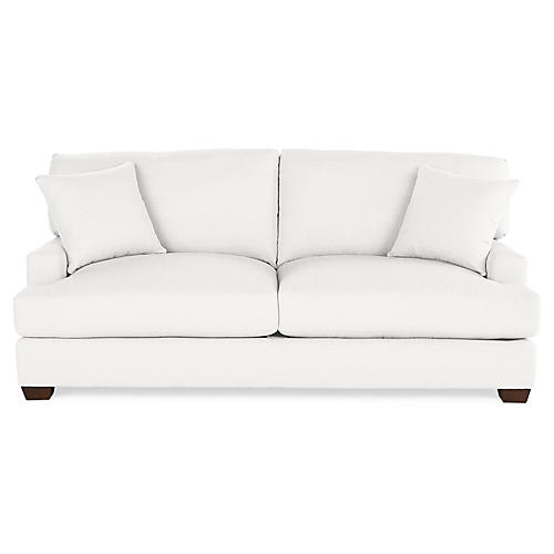 Logan Sofa, White Linen