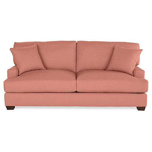 Logan Sleeper Sofa, Rose Linen