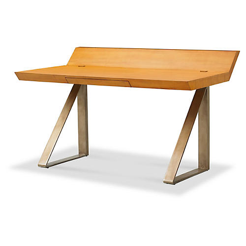 Workhorse Wooden Desk, Natural