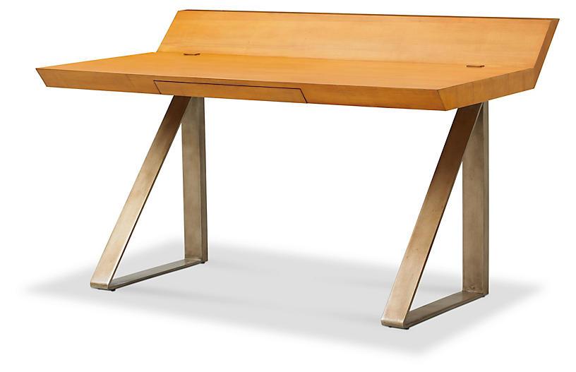 Workhorse Wooden Desk, Natural