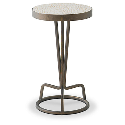 Bottoms Up Side Table, Marble Gray