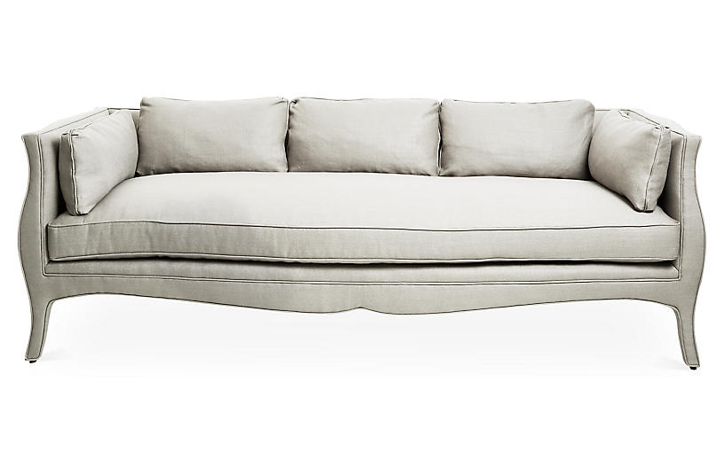 Southern Belle Sofa, Natural Linen