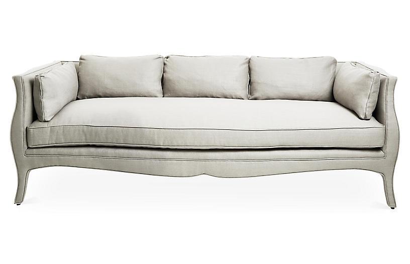 Southern Belle Sofa, Natural Linen