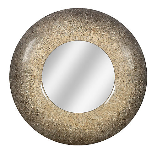 36 Dappled Round Mirror