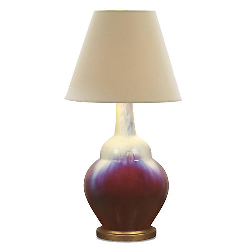 Oxblood Lamp, Red/Blue