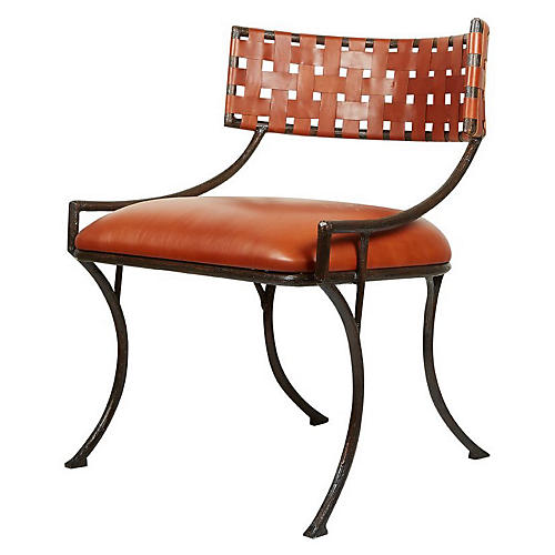 Helena Chair, Caramel Leather
