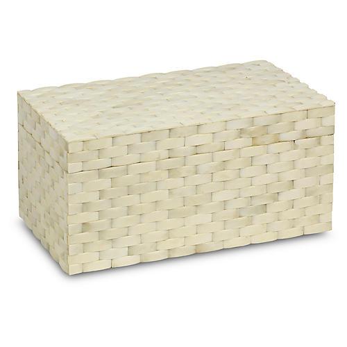 """14"""" Contos Box, Ivory"""