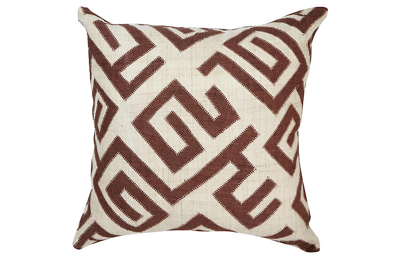 Bambala 22x22 Pillow, Brown