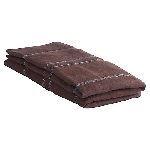 Desarae Hemp Throw, Brown