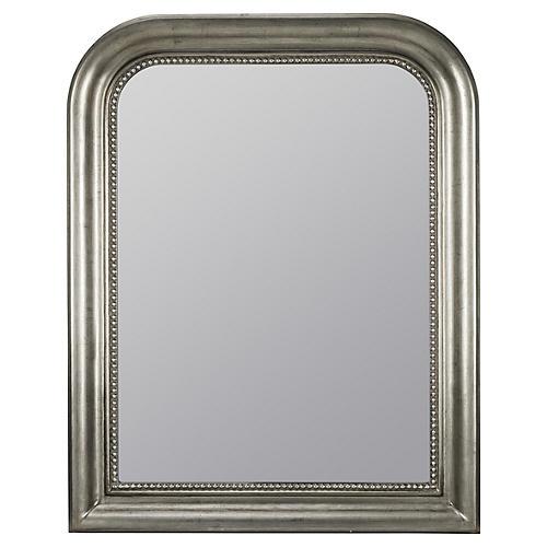 "31""x38"" Louis Philippe Mirror, Silver"