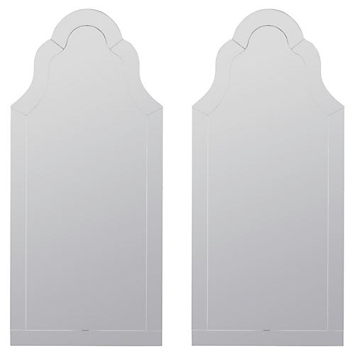 S/2 Nunez Wall Mirror, Mirrored