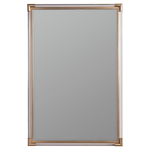 Ambrose Mirror, Gold/Clear