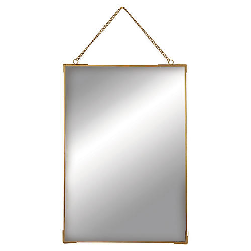 Lysander Accent Mirror, Brass